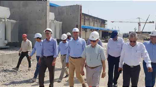 بازدید هیئت مدیره شرکت تامین  انتقال  آب خلیج فارس از پروژه